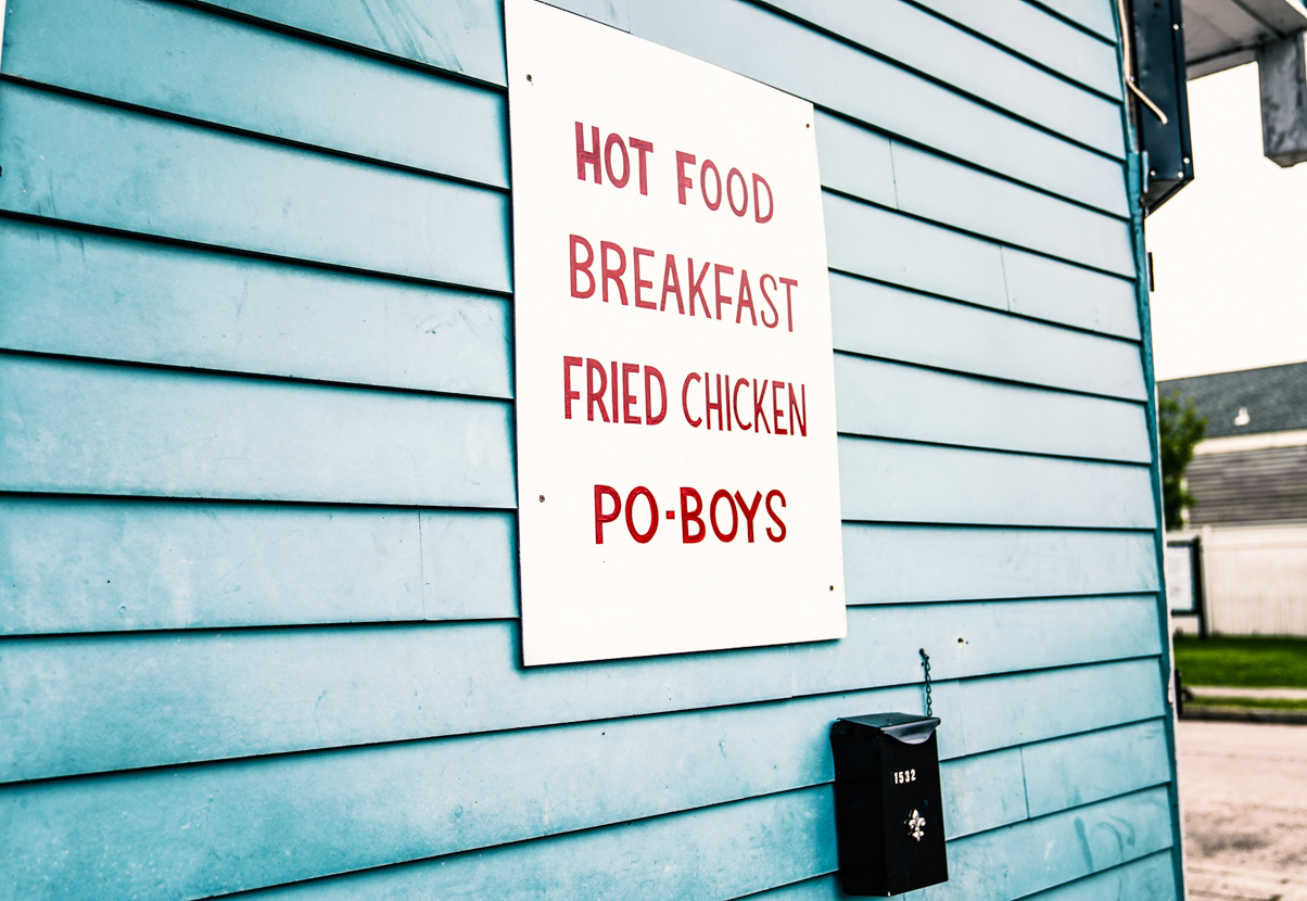 Food Sign in Treme