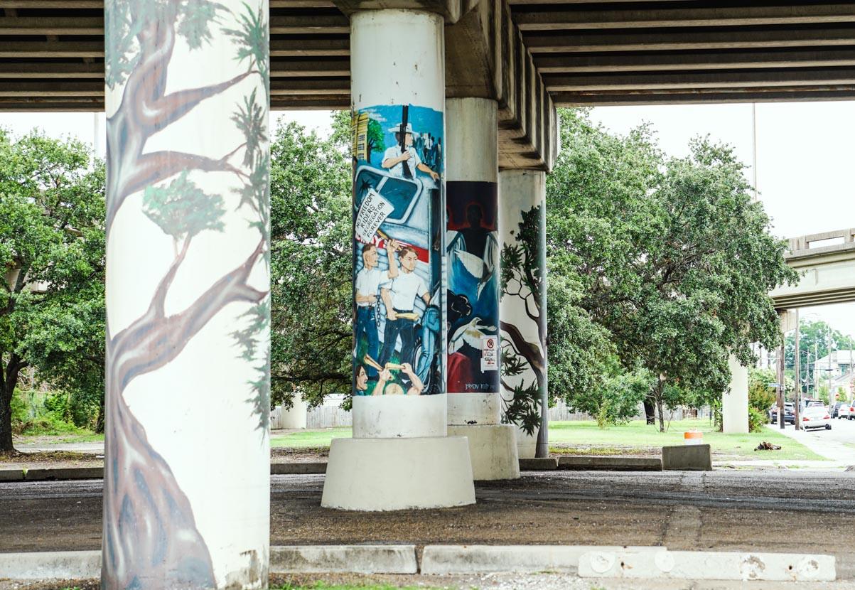 Claiborne Ave Art - Underpass