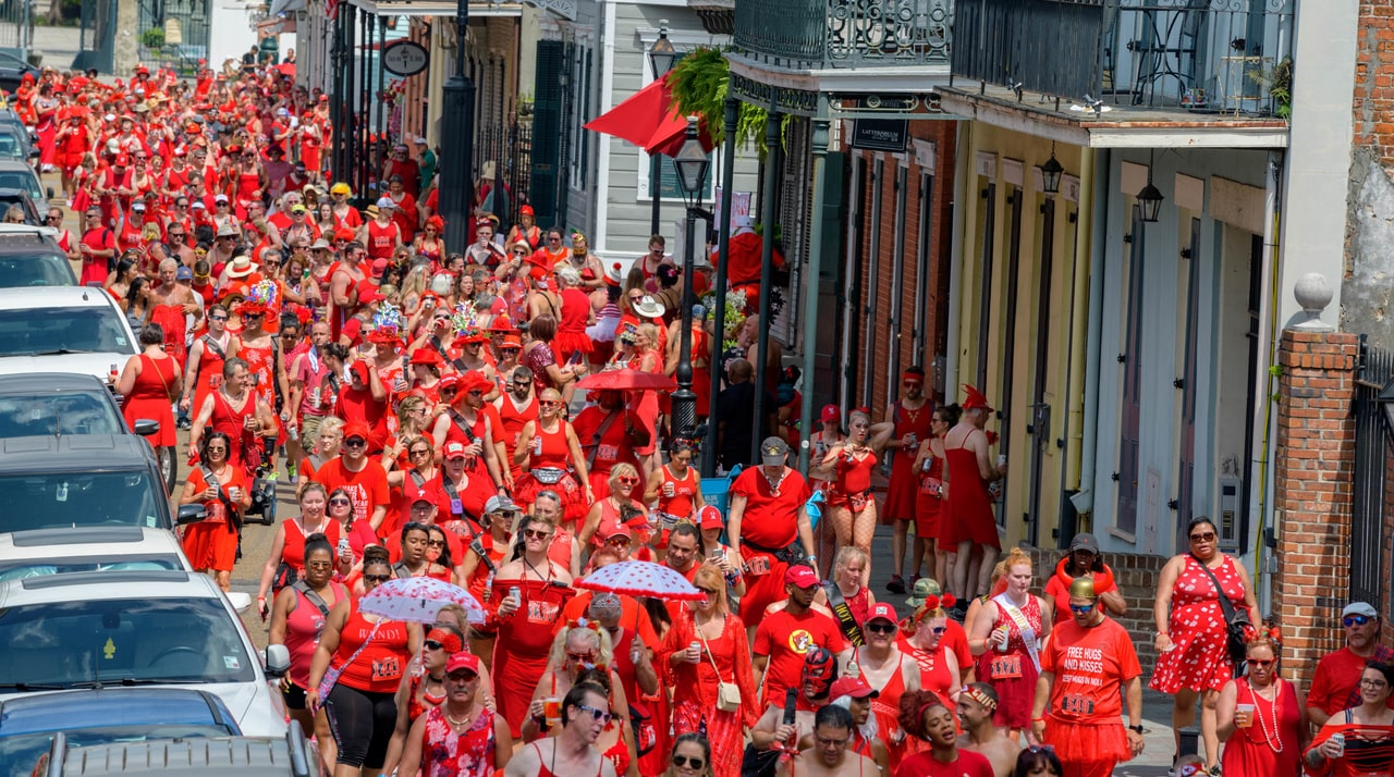 PHOTOS: Hundreds Come Dressed To Impress At Red Dress Run 2019
